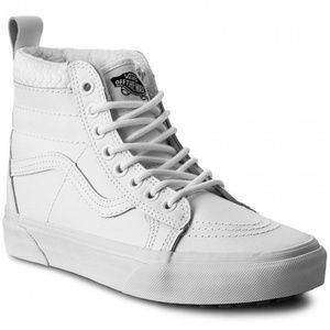 NWT  VANS SK8-HI MTE MONO True White W AUTHENTIC